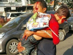 Suicide Bomb Attack In Indonesia Outside Church Many Injured Few Died