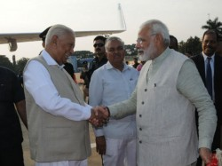 All Eyes On Karnataka Governor Vajubhai Vala Who Vacated His Seat For Modi In