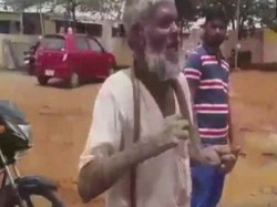 An Old Man Went Office With Cobra Getting Pension Karnataka