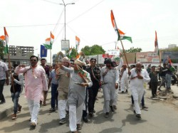 Congress Agitation Against Government For Farmers Issues