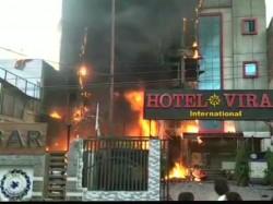 Fire Broke In Charbagh S Ssj International Hotel In Lucknow