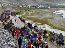 Amarnath Yatra Resumed Today From Pahalgam After Two Days