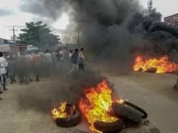 Maratha Reservation Stir Violence Reported Chakan Khed Mah
