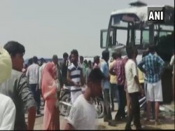 Rajasthan 6 People Killed 21 Injured Bus A Dumper Truck Accident