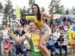 World Wife Carrying Championship Finland Lithuanian Couple Win Title