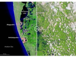 Flood Washed The Kerala Shown Nasa Image