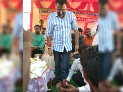Party Worker Washed Leg Bjp Mp Nishikant Dubey