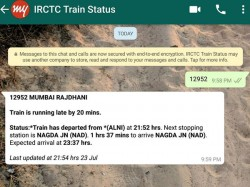 How Check Railway Pnr Status On Whatsapp