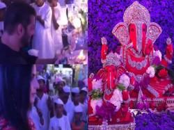 Salman Khan Katrina Kaif Performing Ganesh Arti At Arpita Kh