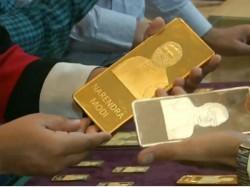 Gold Bar On Sale With Pm Modi Photo Gujarat People Pray Him