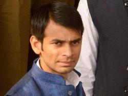Tej Pratap Yadav Sneaks Of Hotel Despite Security Flees Vri