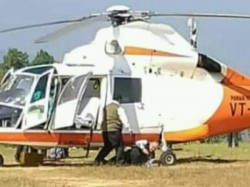 Amit Shah Accidentally Falls From Chopper During Elections Campaign Mizoram