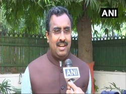 Ram Madhav Attacks Mehbooba Mufti Says She Never Claimed Form Government Jammu Kashmir