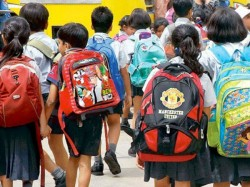 Reduce School Bag Weight No Homework Classes 1 2 Mhrd States Uts