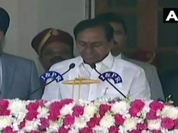 K Chandrasekhar Rao Takes Oath As The Chief Minister Telanga In Hyderabad