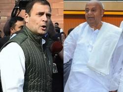 Congress Ally Jds Hints At Going It Alone 2019 Lok Sabha Elections Karnataka