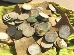 Silver Coins Found In Excavation In Etawah