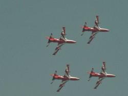 Watch Horrible Video Surya Kiran Acrobatics Team Aircraft Coming Down Aero India