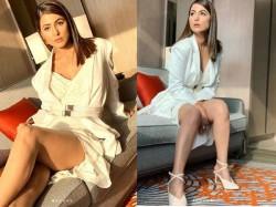 Hina Khan Instagram Pics Looks Sexy Stunning In White Dress
