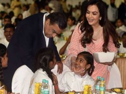 Before The Marriage Son Akash Ambani Mukesh Nita Ambani Gave Treat To 2000 Orphan Kids