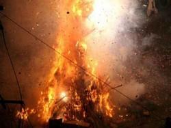 Holika Dahan Also Kamudu Pyre Is Celebrated Burning Holika