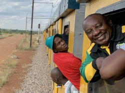 South African President Cyril Ramaphosa Stuck Train Hours Then What Happens