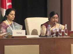 Sushma Swaraj At Organization Islamic Countries Oic Abu Dhabi Uae