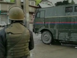 Encounter Between Security Forces And Terrorists In Anantnag