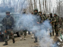 Encounter Between Security Forces And Terrorists In Jammu Kashmir Pulwama Lassipora