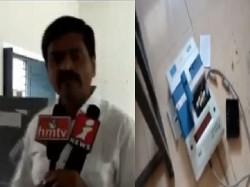 Andhra Pradesh Jana Sena Candidate Madhusudhan Gupta Smashed An Evm