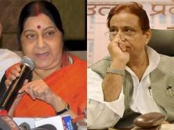 Lok Sabha Elections 2019 Sushma Swaraj Attacks On Azam Khan
