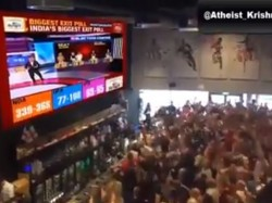 Video Claiming People In Uk Are Cheering After Watching The Exit Poll Results