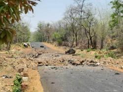 Ied Blast By Naxals On A Police Vehicle In Gadchiroli Maharashtra