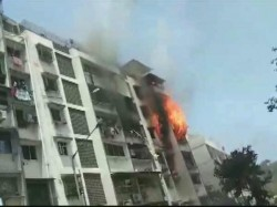 Mumbai Fire Brolen Out On 4th Floor At Sarita Building In Andheri
