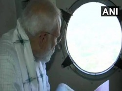 Pm Modi Praises Naveen Patnaik Conducts Aerial Survey Of Affected Areas In Odisha