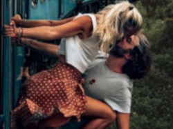 Instagram Couple Risk Their Lives To Take Kissing Photo On A Moving Train