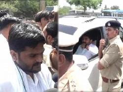 Surat Fire Tragedy Hardik Patel Held By Police Before Hunger Strike