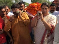 Surendra Singh Was Killed Because He Helped Smriti Irani To Election