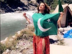 Rakhi Sawant Poses With A Pakistani National Flag Clarifies Act In Video