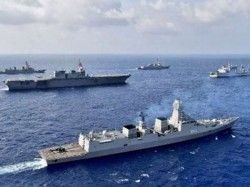 India Challenging China With Us And Japan With Its Presence South China Sea
