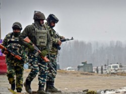 Fire Between Security Forces And Terrorists In Anantnag Of Jammu And Kashmir
