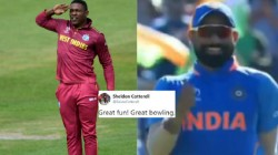 Mohammad Shami Make Fun Of Sheldon Cottrell By Seluting