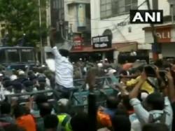 Bjp Protests In Kolkata After Bjp Worker Anil Singh Body Found In Malda