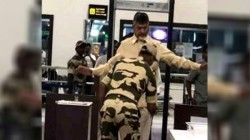 Former Cm Chandrababu Naidu Denied Vip Access To Plane Undergo Frisking At Airport