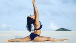 Abigail Pande Shared Topless Yoga Pic On Instagram