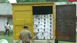 Police Seized Two Truck Of Alcohol Smuggler