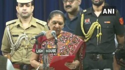 Anandiben Patel Takes Oath As Uttar Pradesh Governor In Lucknow