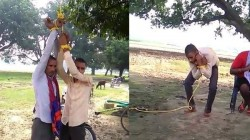 Father And Son Tied Up And Beaten By Villagers In Prayagraj