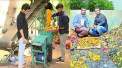Gujarat Fertilizer And Agarbatti Are Made From Used Temple Flowers