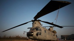 Two New Heavy Lift Chinook Helicopters For Indian Air Force Land In Gujarat